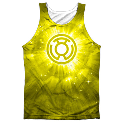 Green Lantern Yellow Energy Men's Regular Fit Polyester Tank Top