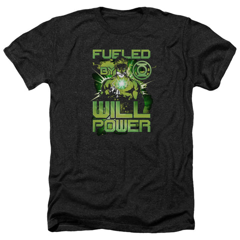 Green Lantern Fueled Men's 30/1 Heather 60 40 Poly SS T