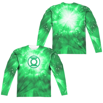 Green Lantern Green Energy (Front/Back Print) Men's Regular Fit Polyester LS T