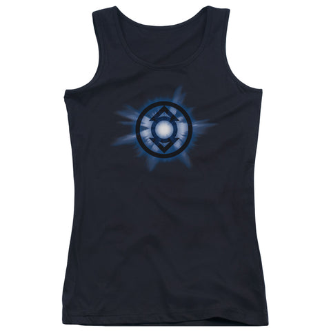 Green Lantern Indigo Glow Junior's 100% Cotton Tank Top