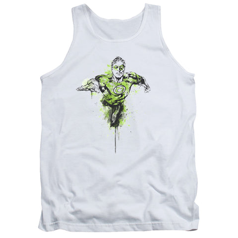 Green Lantern Inked Men's 18/1 Cotton Tank Top