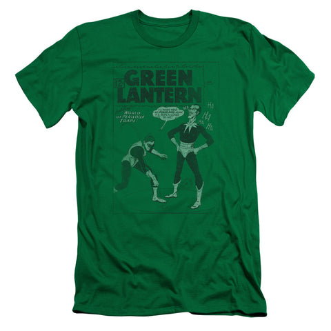 Green Lantern Perilous Traps Men's 30/1 Cotton Slim SS T