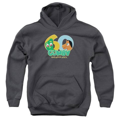 Gumby 60Th Youth Cotton Poly Pull-Over Hoodie