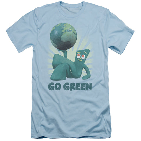 Gumby Go Green Men's 30/1 Cotton Slim SS T