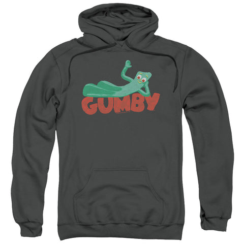 Gumby On Logo Men's Pull-Over 75 25 Poly Hoodie