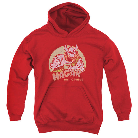 Hagar The Horrible Hagar Circle Youth Cotton Poly Pull-Over Hoodie