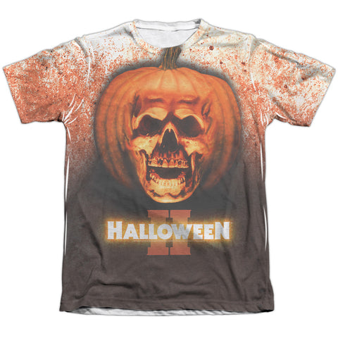 Halloween Pumpkin Skull Men's Regular Fit Poly Cotton SS T