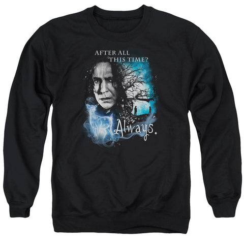 Harry Potter Always Men's Crewneck 50 50 Poly LS T