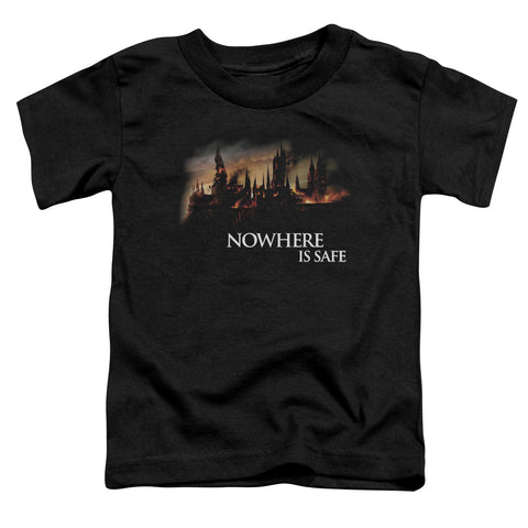 Harry Potter Burning Hogwarts Toddler 18/1 Cotton SS T