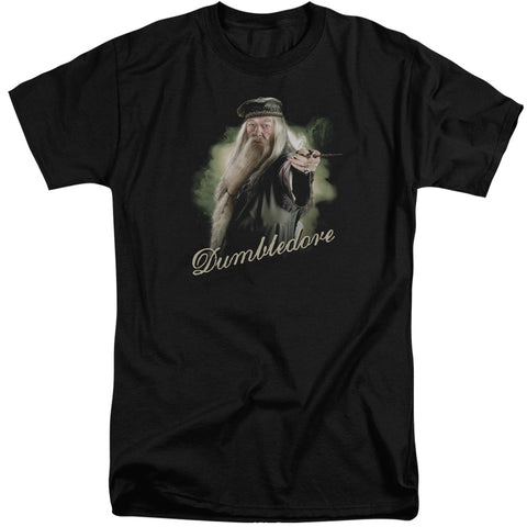 Harry Potter Dumbledore Wand Men's 18/1 Tall Cotton SS T
