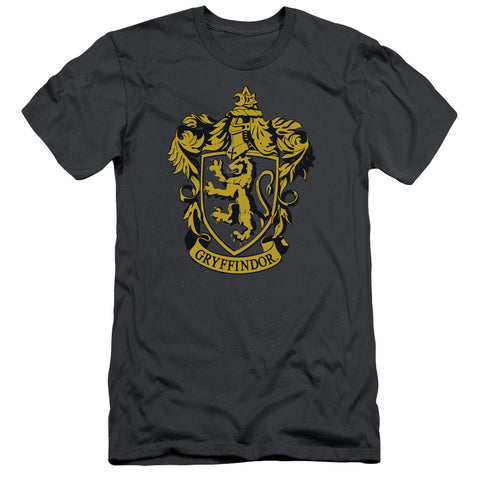 Harry Potter Gryffindor Crest Men's 30/1 Cotton Slim SS T