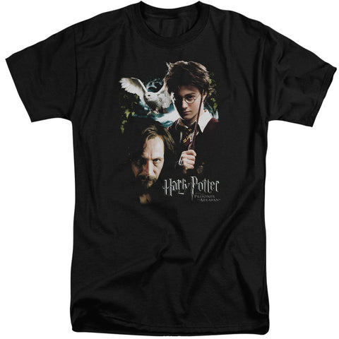 Harry Potter Harry And Sirius Men's 18/1 Tall Cotton SS T