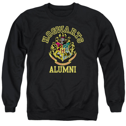 Harry Potter Hogwarts Alumni Men's Crewneck 50 50 Poly LS T