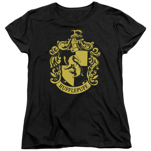 Harry Potter Hufflepuff Crest Women's 18/1 Cotton SS T