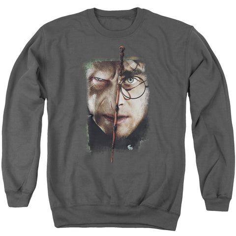 Harry Potter It All Ends Here Men's Crewneck 50 50 Poly LS T