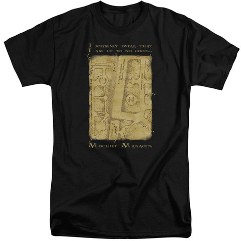 Harry Potter Marauders Map Interior Words Men's 18/1 Tall Cotton SS T