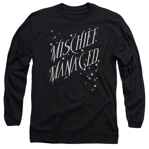 Harry Potter Mischief Managed 4 Men's 18/1 Cotton LS T