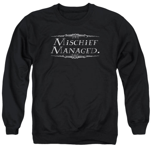 Harry Potter Mischief Managed Men's Crewneck 50 50 Poly LS T