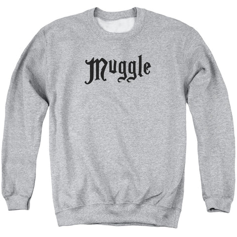 Harry Potter Muggle Men's Crewneck 50 50 Poly LS T