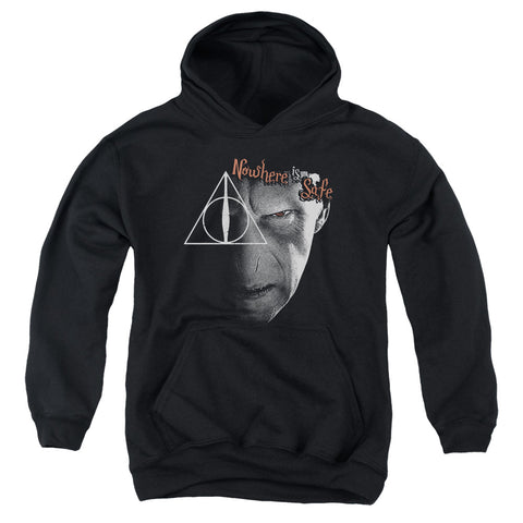 Harry Potter Nowhere Is Safe Youth Cotton Poly Pull-Over Hoodie