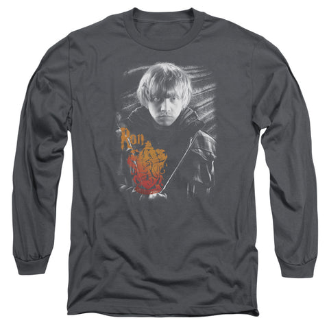 Harry Potter Ron Portrait Men's 18/1 Cotton LS T