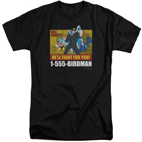 Harvey Birdman Birdman Ad Men's 18/1 Tall Cotton SS T