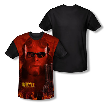Hellboy Big Red Youth Black Back Poly Regular Fit SS T