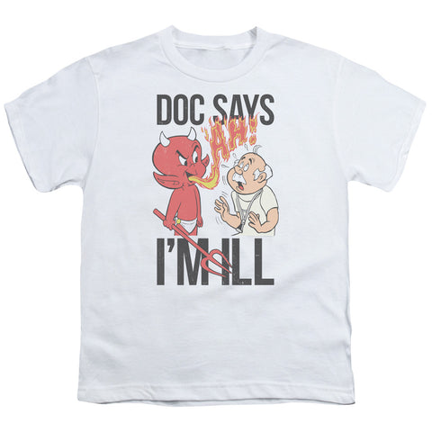Hot Stuff Doc Says Youth 18/1 100% Cotton SS T