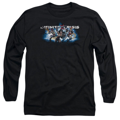 Infinite Crisis Ic Blue Men's 18/1 Cotton LS T
