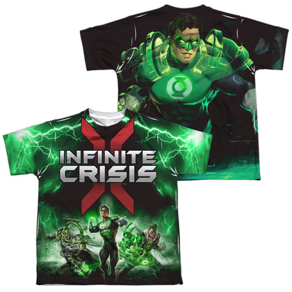 Infinite Crisis Ic Green Lantern (Front/Back Print) Youth Regular Fit Poly SS T