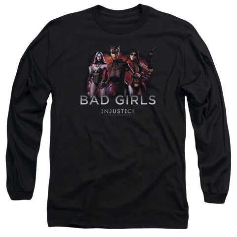 Injustice Gods Among Us Bad Girls Men's 18/1 Cotton LS T
