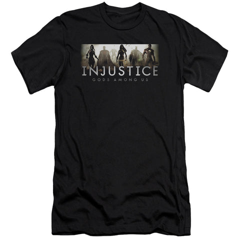 Injustice Gods Among Us Logo Men's Ultra-Soft 30/1 Cotton Slim SS T