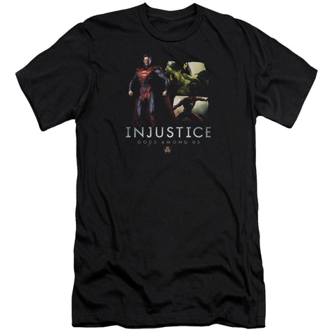Injustice Gods Among Us Supermans Revenge Men's 30/1 Cotton Slim SS T