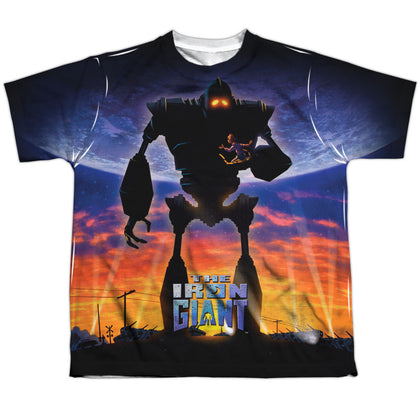Iron Giant Giant Poster Youth Regular Fit Poly SS T