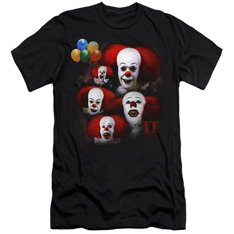 It Many Faces Of Pennywise Men's Ultra-Soft 30/1 Cotton Slim SS T