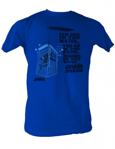 Jaws Special Order Cage In The Water Adult S/S Tshirt