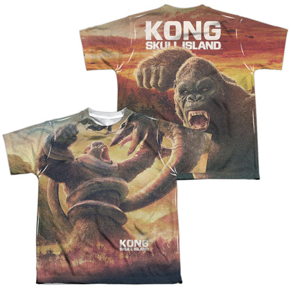 Kong Skull Island The Mighty Jungle (Front/Back Print) Youth Regular Fit Poly SS T