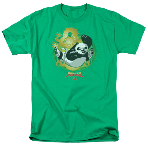 Kung Fu Panda Drago Po Men's 18/1 Cotton SS T