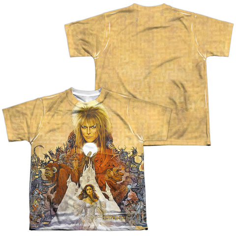 Labyrinth Cover Art (Front/Back Print) Youth Regular Fit Poly SS T