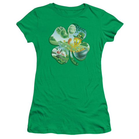 Looney Tunes Tweety Shamrock Junior's 30/1 Cotton Cap-Sleeve T
