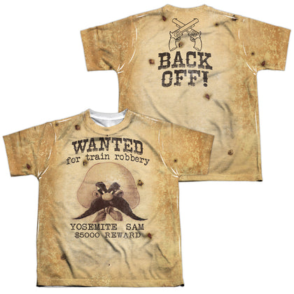 Looney Tunes Wanted (Front/Back Print) Youth Regular Fit Poly SS T