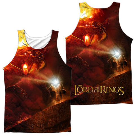 Lord Of The Rings No Passing (Front/Back Print) Men's Regular Fit Polyester Tank Top