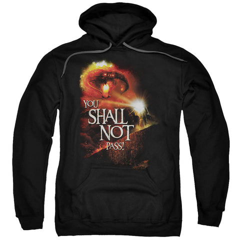 Lord Of The Rings You Shall Not Pass Men's Pull-Over 75 25 Poly Hoodie