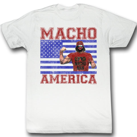 Macho Man Special Order Macho America Adult S/S T-Shirt