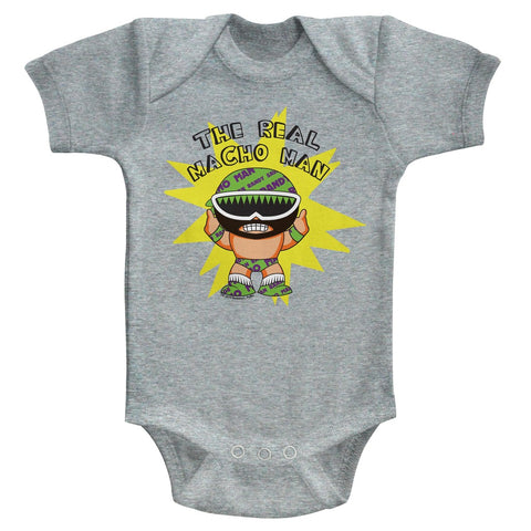 Macho Man Special Order To Be Real Newborn S/S Bodysuit