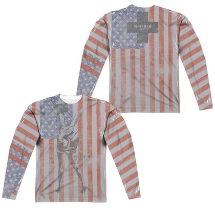 Mash Flagged (Front/Back Print) Men's Regular Fit Polyester LS T