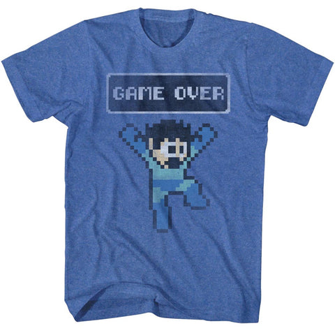 Mega Man Special Order Game Over Adult S/S T-Shirt
