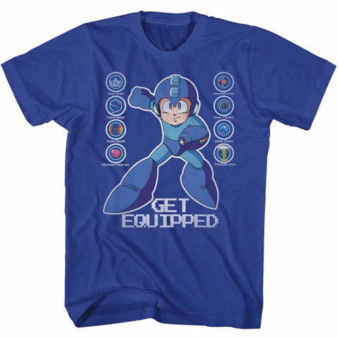 Mega Man Special Order Get Equipped Adult S/S T-Shirt