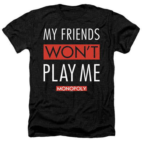 Monopoly My Friends Men's 30/1 Heather 60 40 Poly SS T