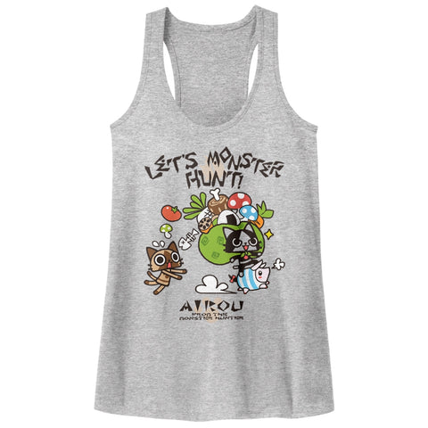Monster Hunter Special Order Airou Hunter Ladies  Racerback